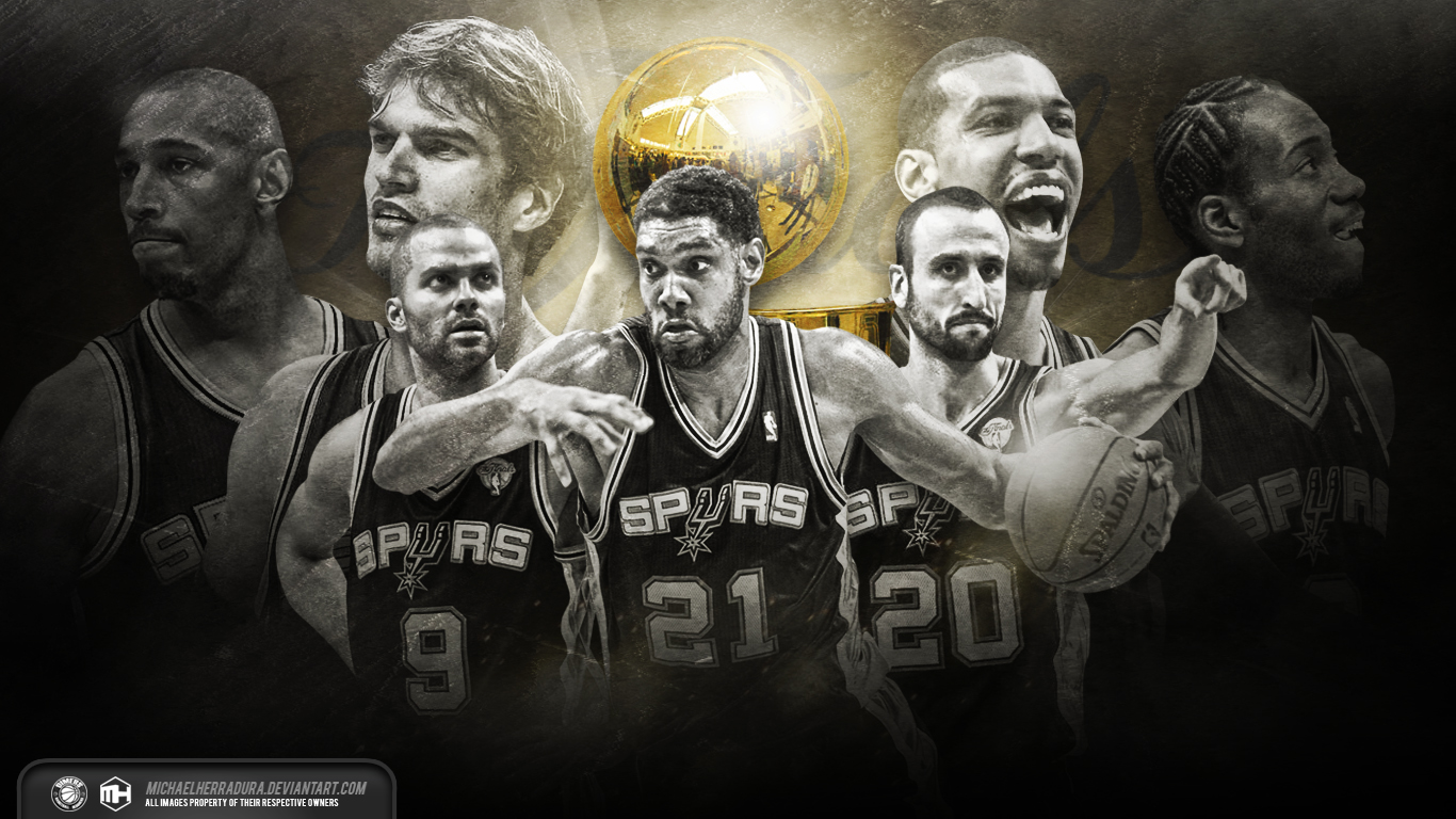 San Antonio Spurs Finals wallpaper by michaelherradura 1366x768