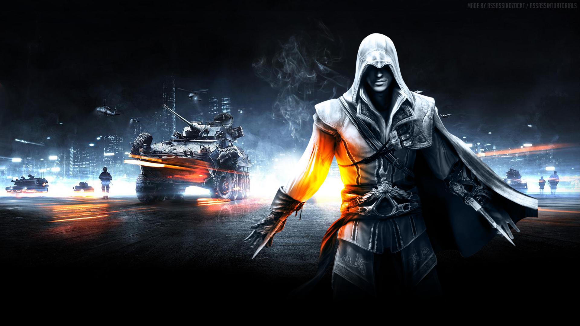 Video Game   Collage Assassins Creed Battlefield Wallpaper 1920x1080