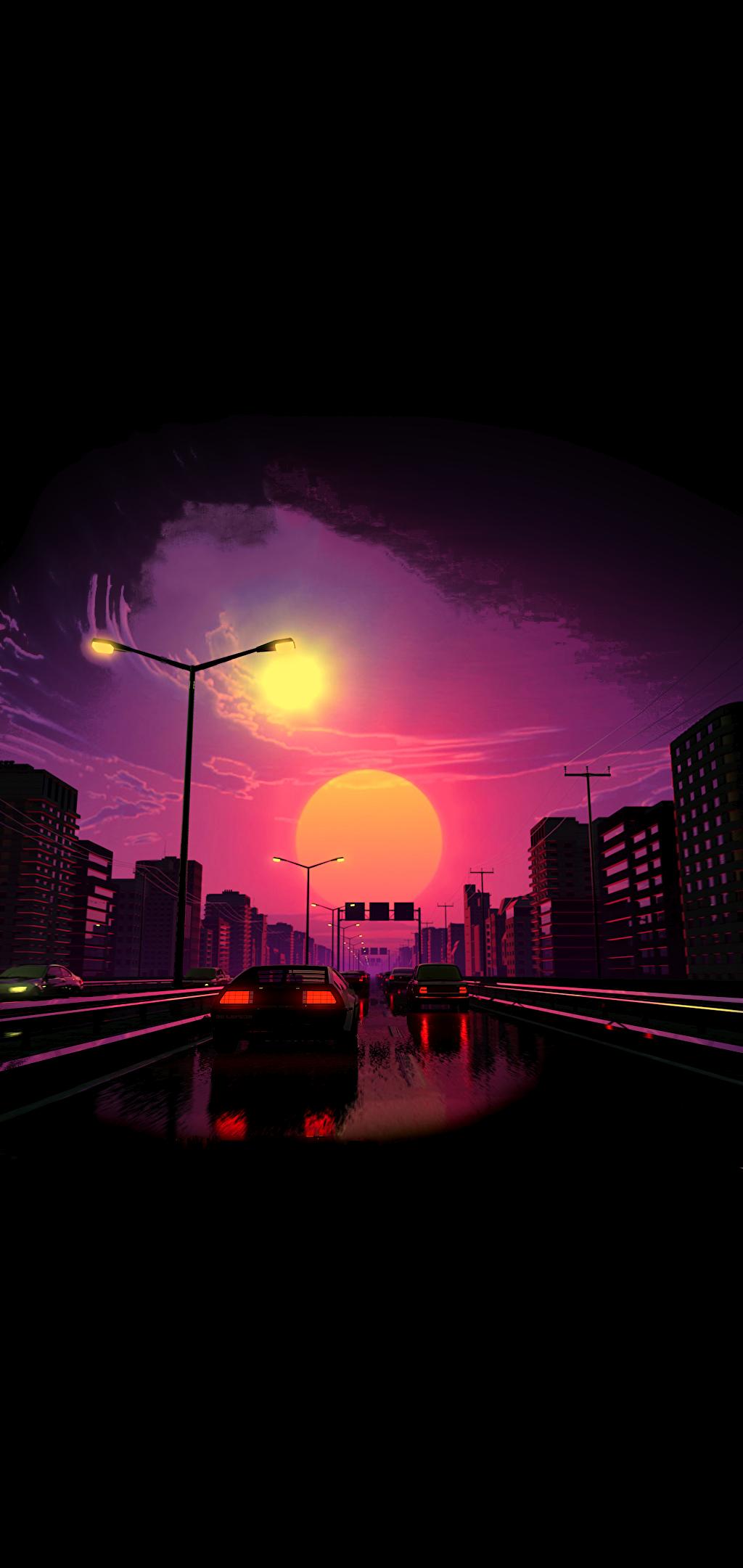 Sunset aesthetic minimal wallpaper Sunset wallpaper Minimal 1024x2161