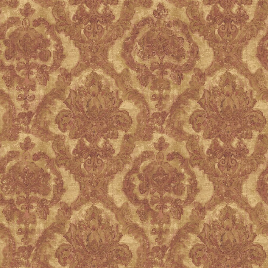Aubine Damask Red Peelable Vinyl Prepasted Wallpaper Lowes Canada 900x900