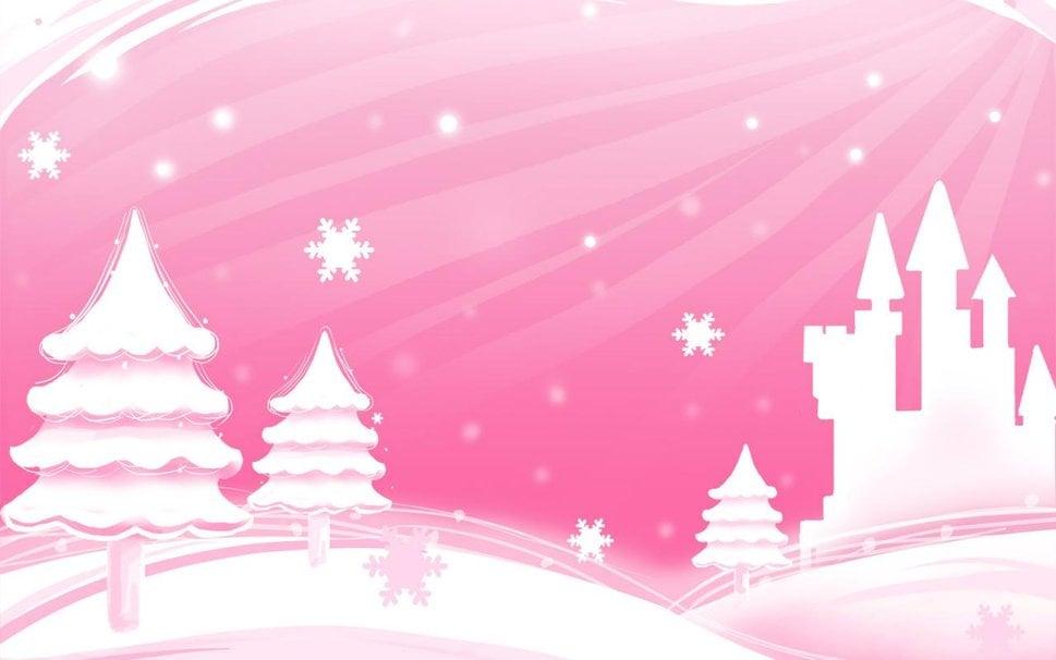 Blirk Net Pink Christmas Trees Forist wallpaper   ForWallpaper 969x606