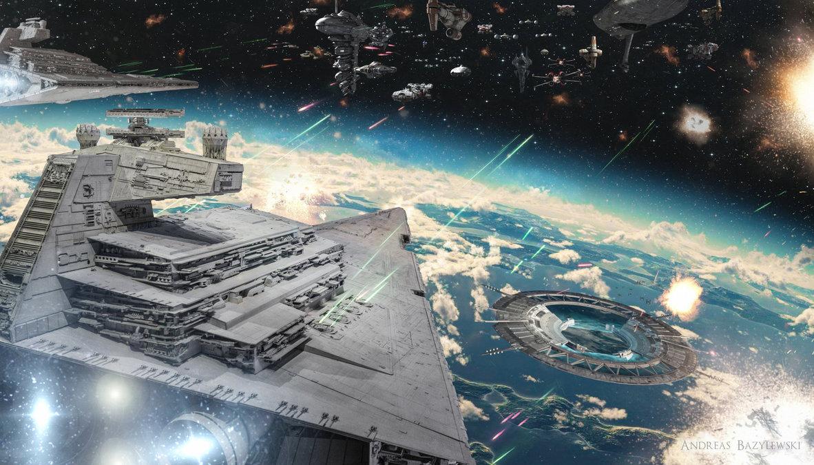 Rogue One Battle of Scarif by Andreas Bazylewski StarWars 1182x675
