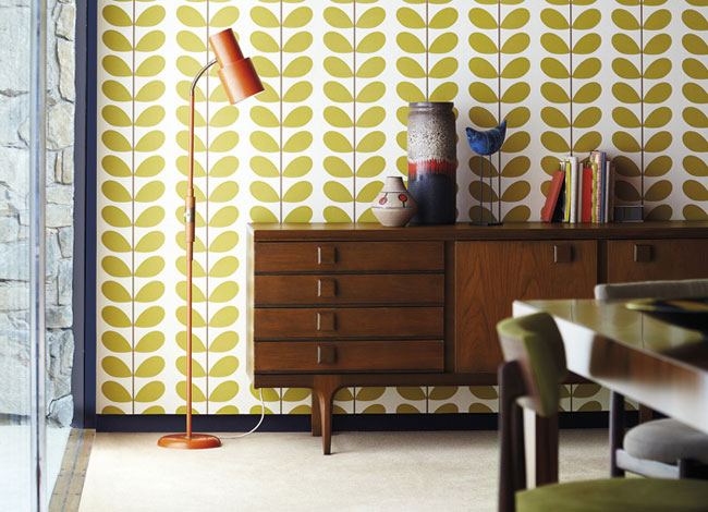 Orla Kiely Wallpapers Harlequin   Designer Wallpapers 650x470