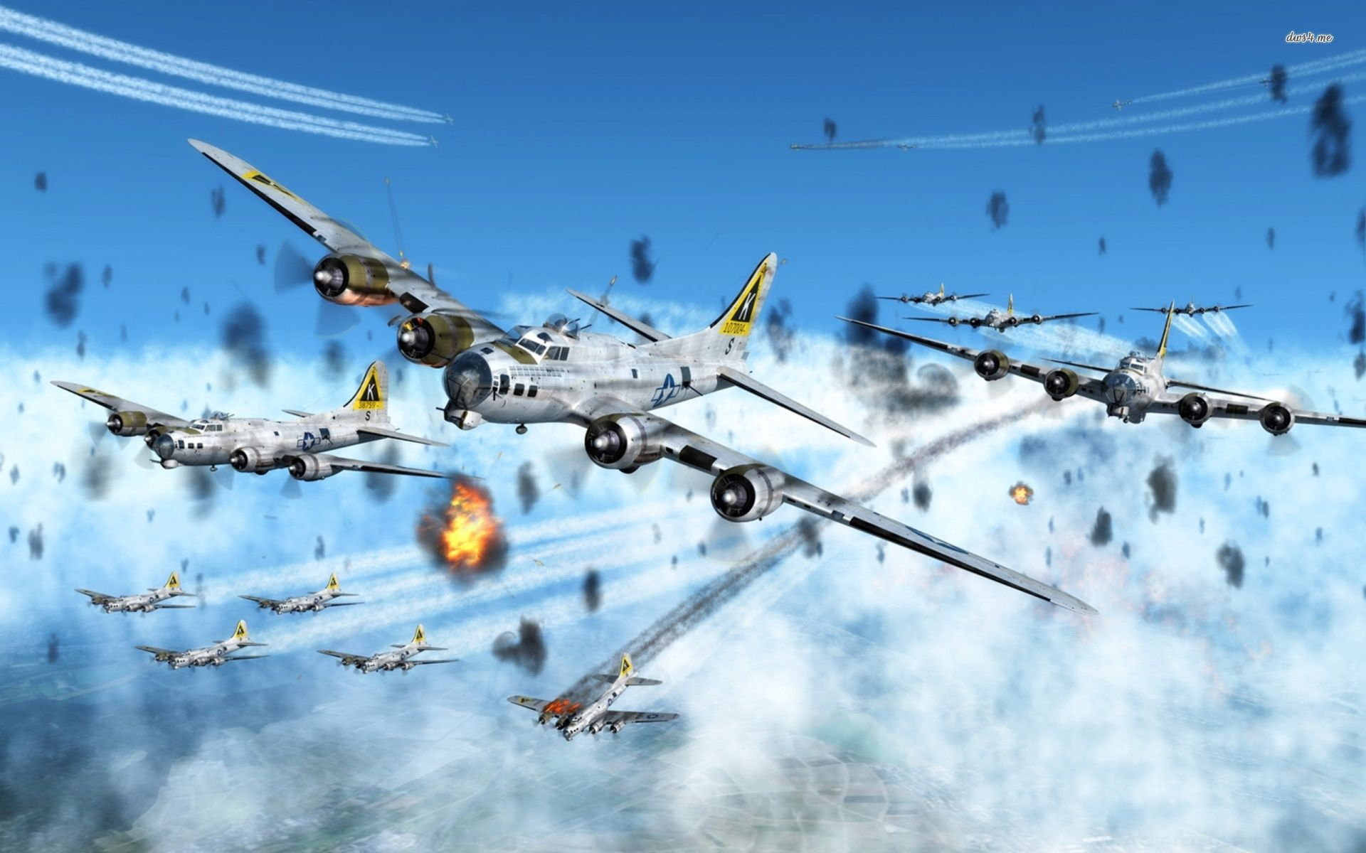 K on tail 447th ww2 bomber b17 pictures art Boeing B 17 Flying 1920x1200