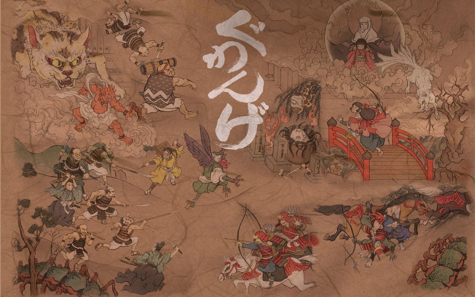 Japanese Art Wallpapers Wall Art Japan Wallpaper Painingjpg 1600x1000