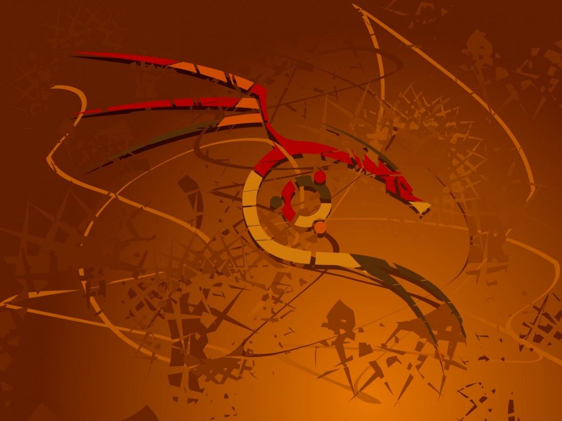 Ubuntu Red Dragon Wallpapers   1152x864   195575 1152x864
