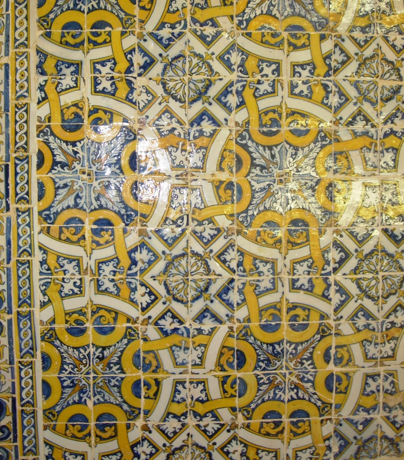 Polyedros Wallpaper Groups Tiles Portugal Santarem Igreja De