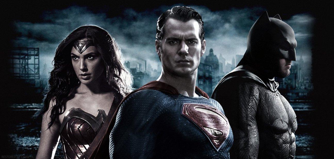 Batman V Superman   Trinity Wallpaper HD Restored by CAMW1N 1295x616