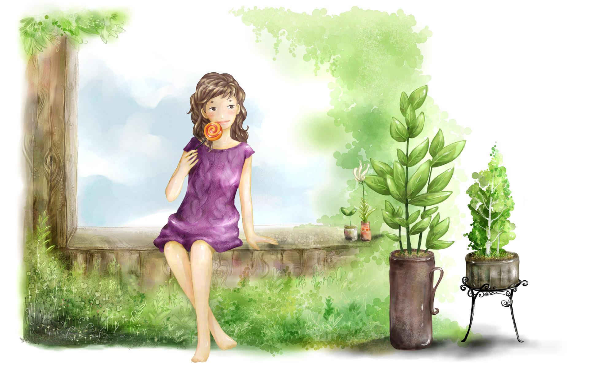 Cute Cartoon Wallpapers For Girls Wallpapersafari