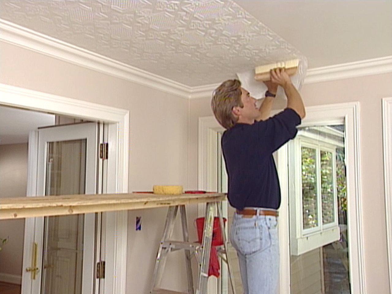 Free Download How To Apply An Embossed Wallpaper Ceiling