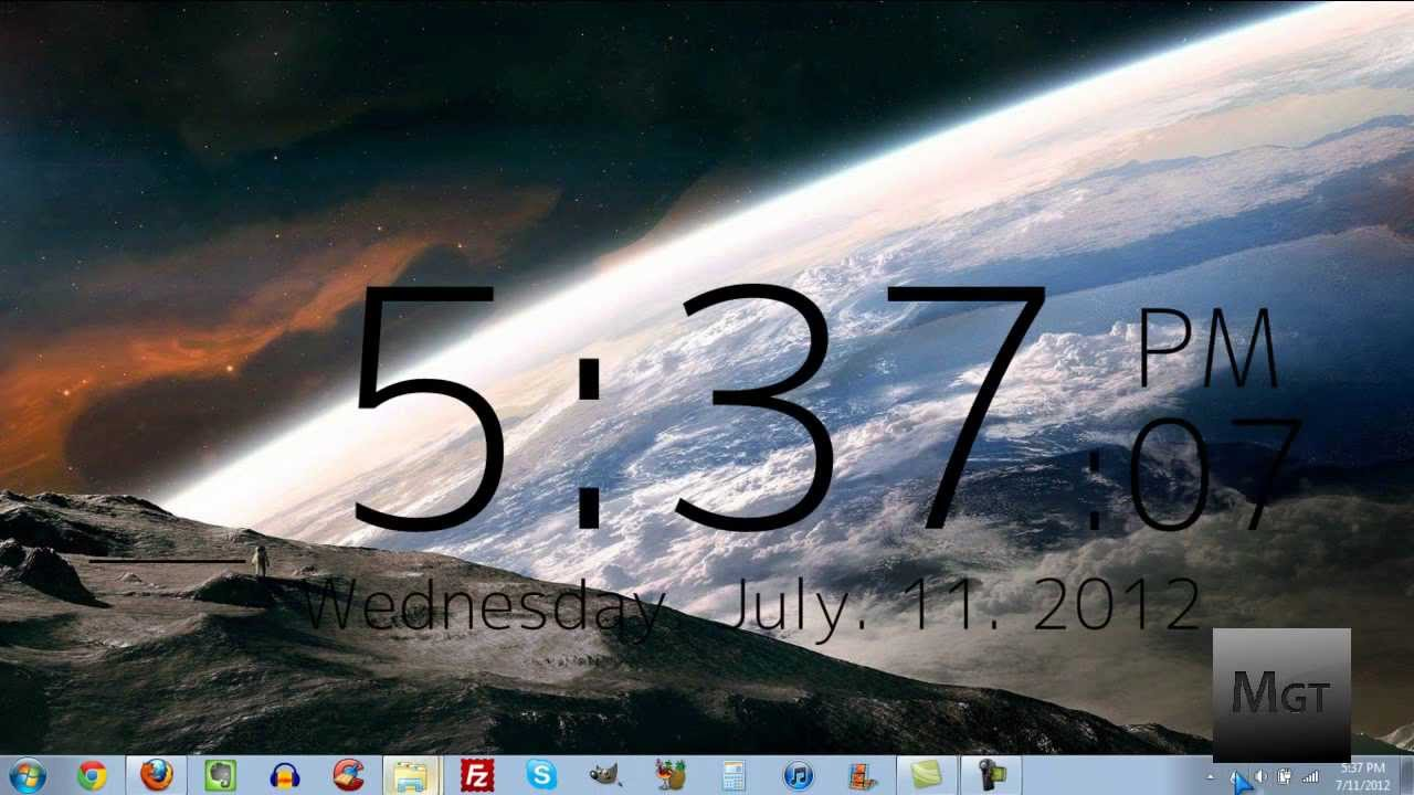 How To Get a Clock On Your Desktop in Windows 1280x720