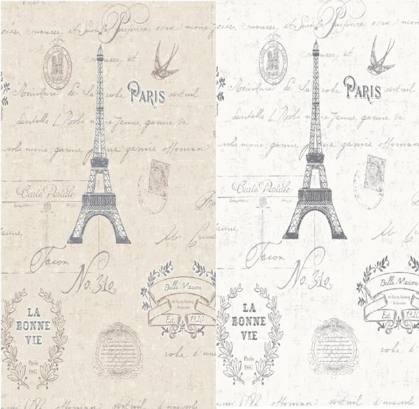 PARIS CALLIGRAPHY EIFFEL TOWER BIRDS VINTAGE 10M WALLPAPER ROLL eBay 600x586