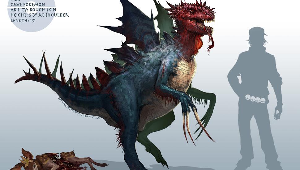 druddigon pokemon wallpaper and desktop background hd picture 39740 970x550