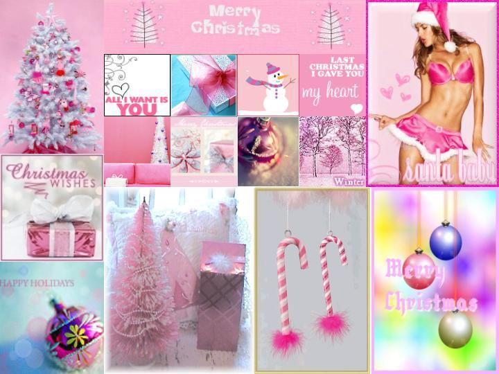 Pink Girly Christmas Collage Facebook Timeline Cover Backgrounds 720x540