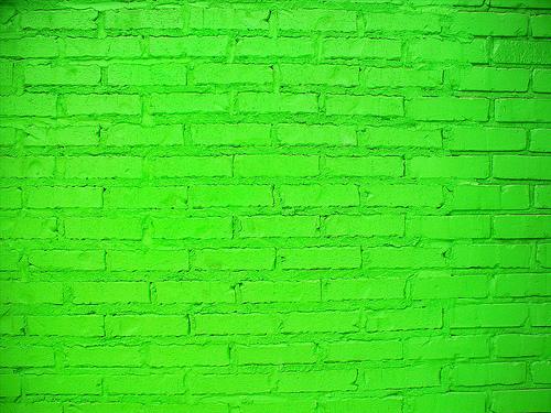 Yellow Green Brick Wall Wallpaper Flickr   Photo Sharing 500x375