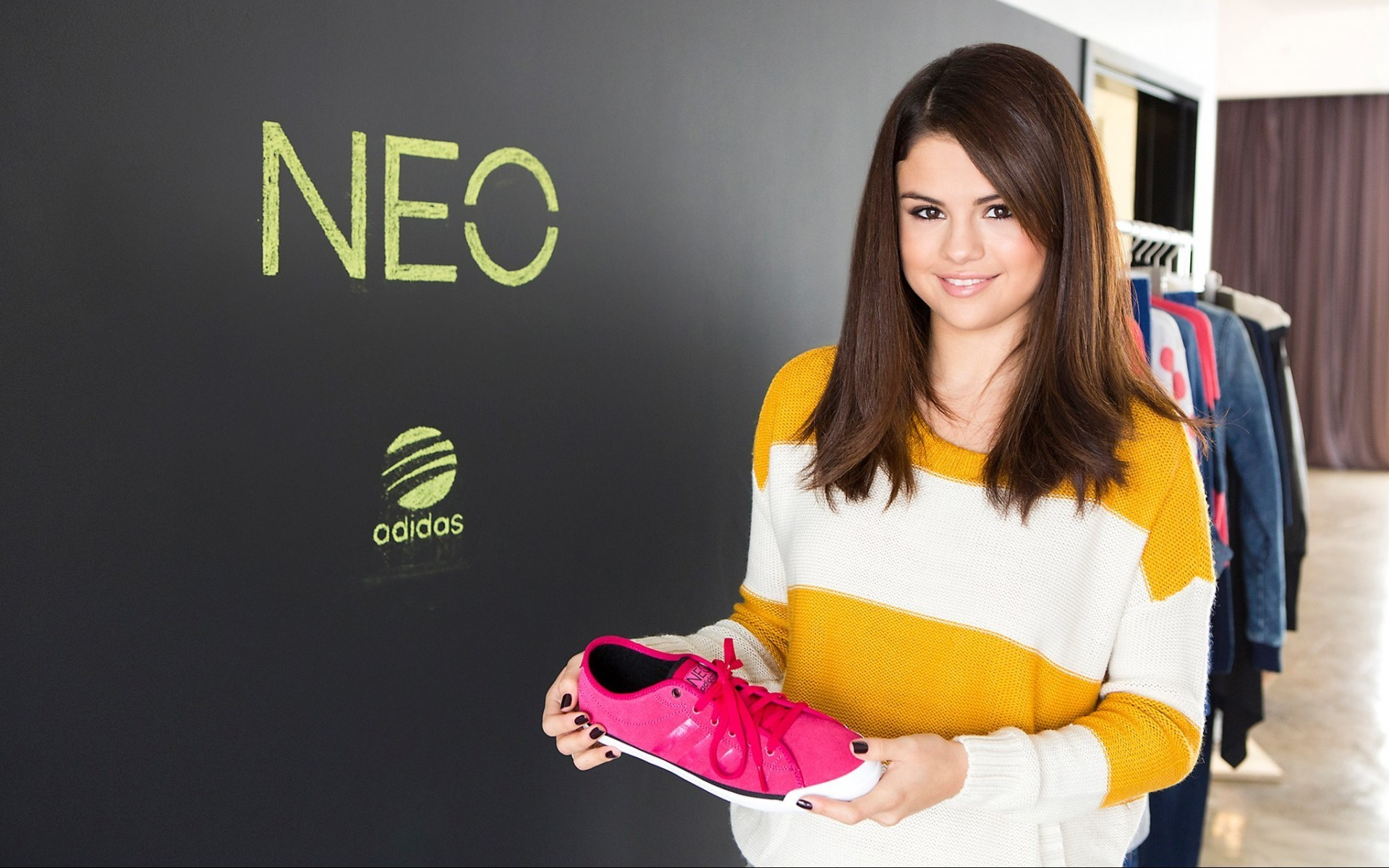 Selena Gomez Adidas Neo Shoes wallpaper 7898 1920x1200