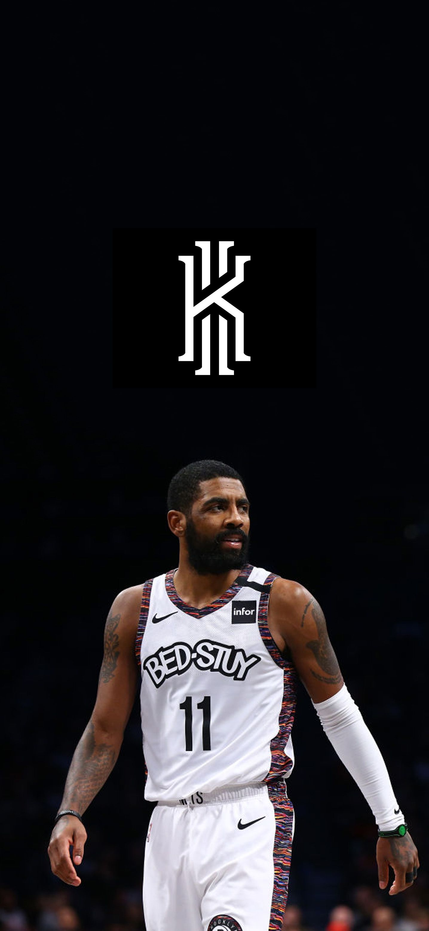 Kyrie Irving Wallpaper Irving wallpapers Kyrie irving logo 1436x3113