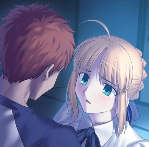 azusaemiya shirou fatestay night saberAwww Fate Stay Night 500x492