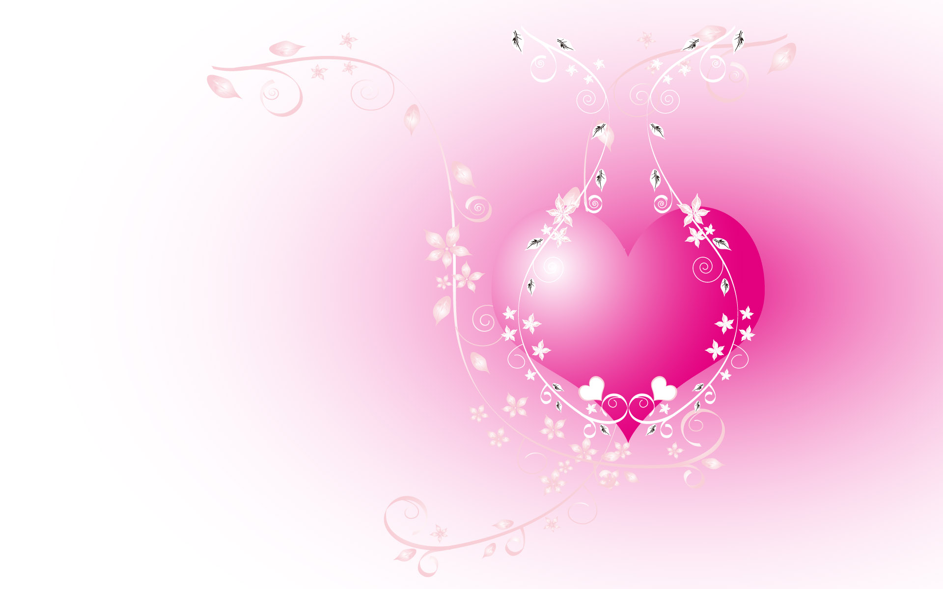 Download Hearts wallpaper the pink heart 1920x1200