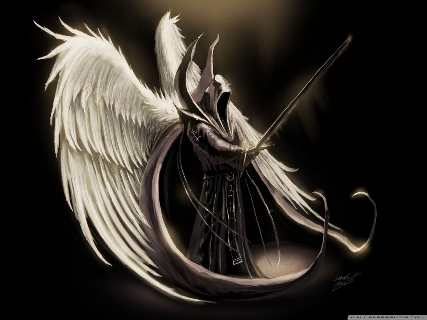 Angels Wings Wallpaper 1440x1080 Angels Wings Fallen Angel Swords 1440x1080
