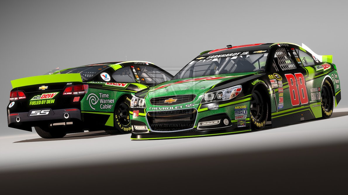 88 Dale Earnhardt Jr Mtn Dew Chevy SS by Driggers 1191x670