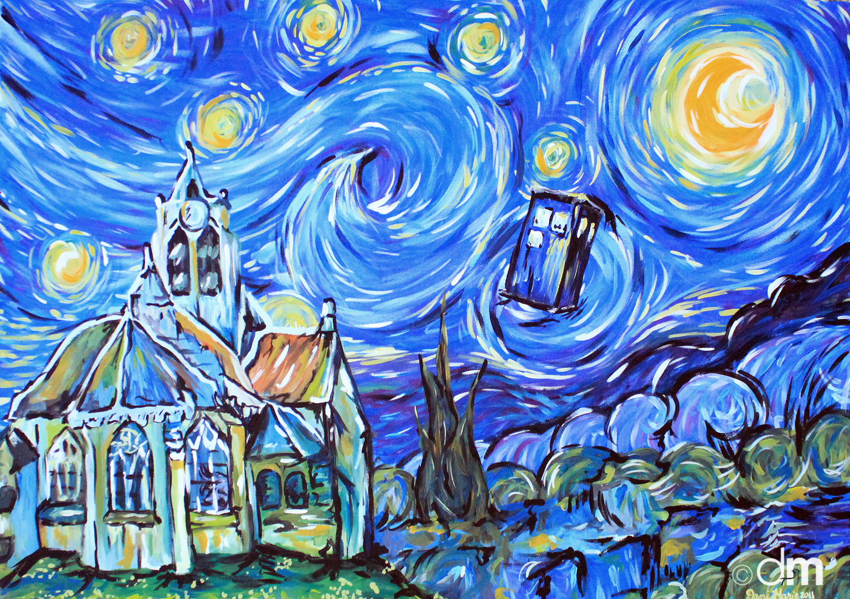 Doctor Who Wallpaper Tardis Van Gogh Le tardis dans une peinture