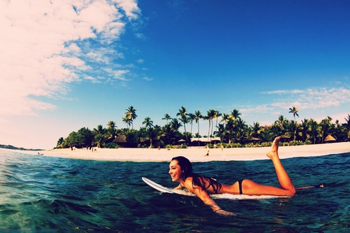 Free Download Related Pictures Girls Surfing Beach Wallpaper
