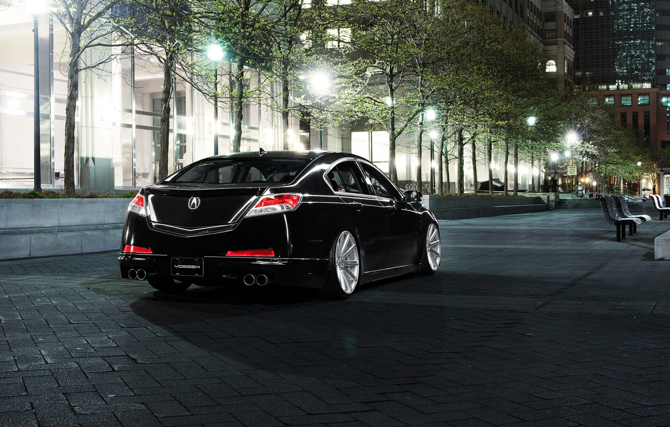 Wallpaper night the city tuning Honda black acura tl Acura 1332x850