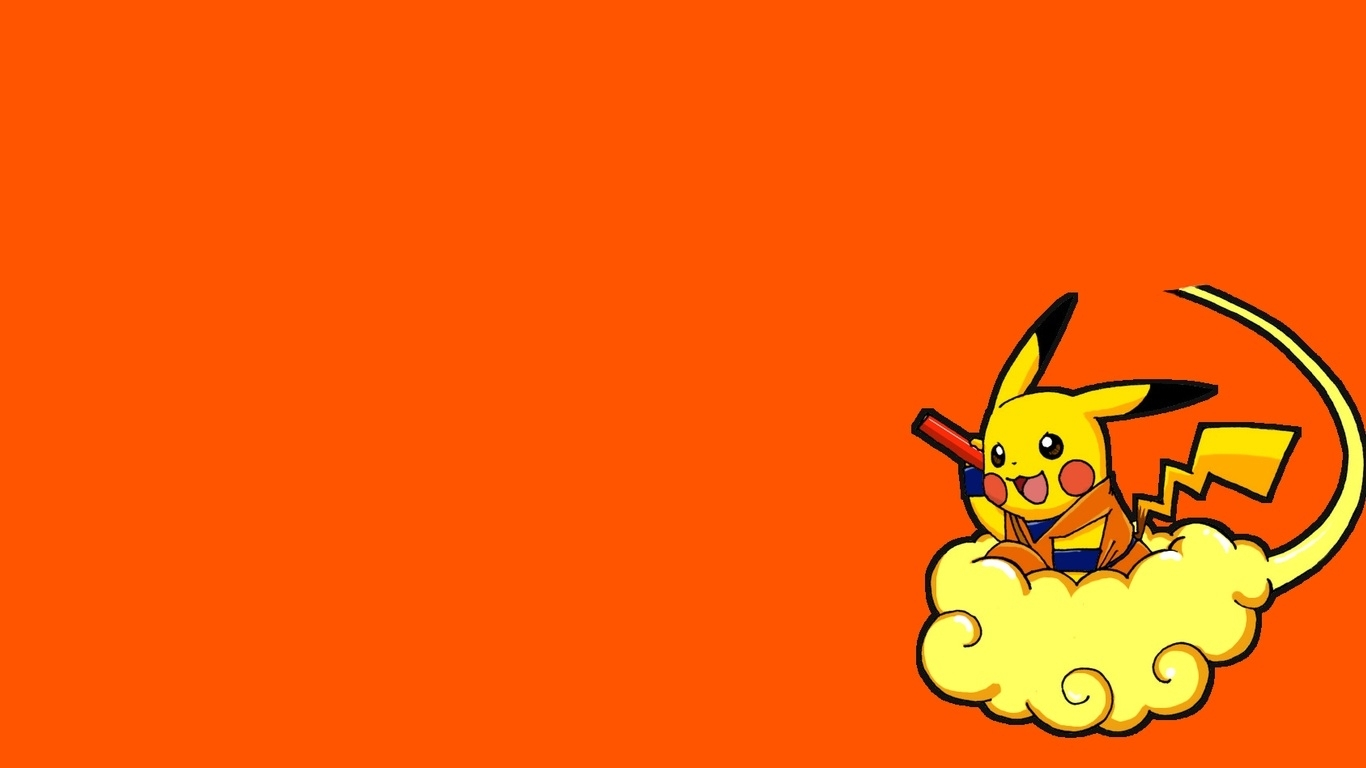 1366x768 pokemon pikachu parody dragon ball z 1366x768 wallpaper 1366x768