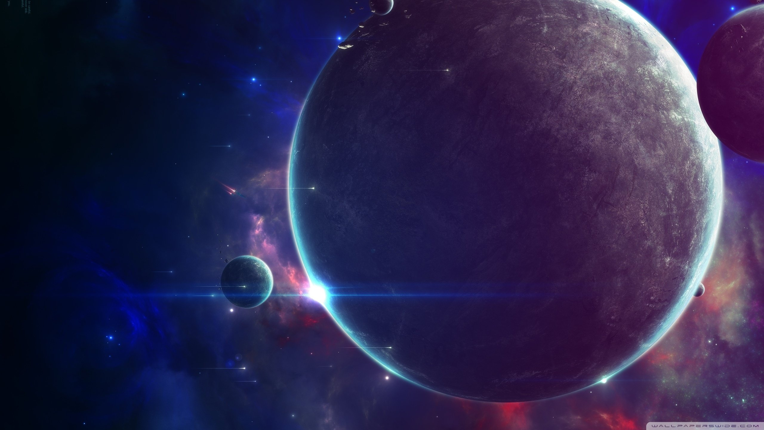 art wallpaper space skulls wallpapers close planets 2560x1440