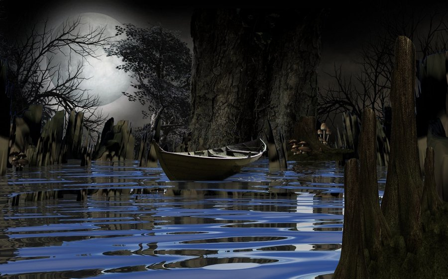 Swamp Background by mysticmorning 900x562