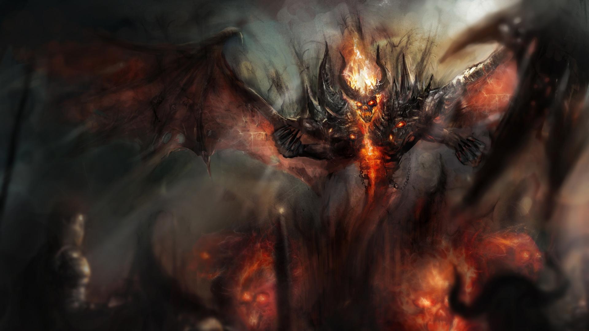 Download 1920x1080 HD Wallpaper dota 2 nevermore demon smoke fire 1920x1080