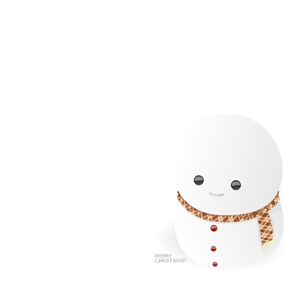 iPad Wallpapers Download Christmas Snowman iPad mini Wallpapers 1024x1024