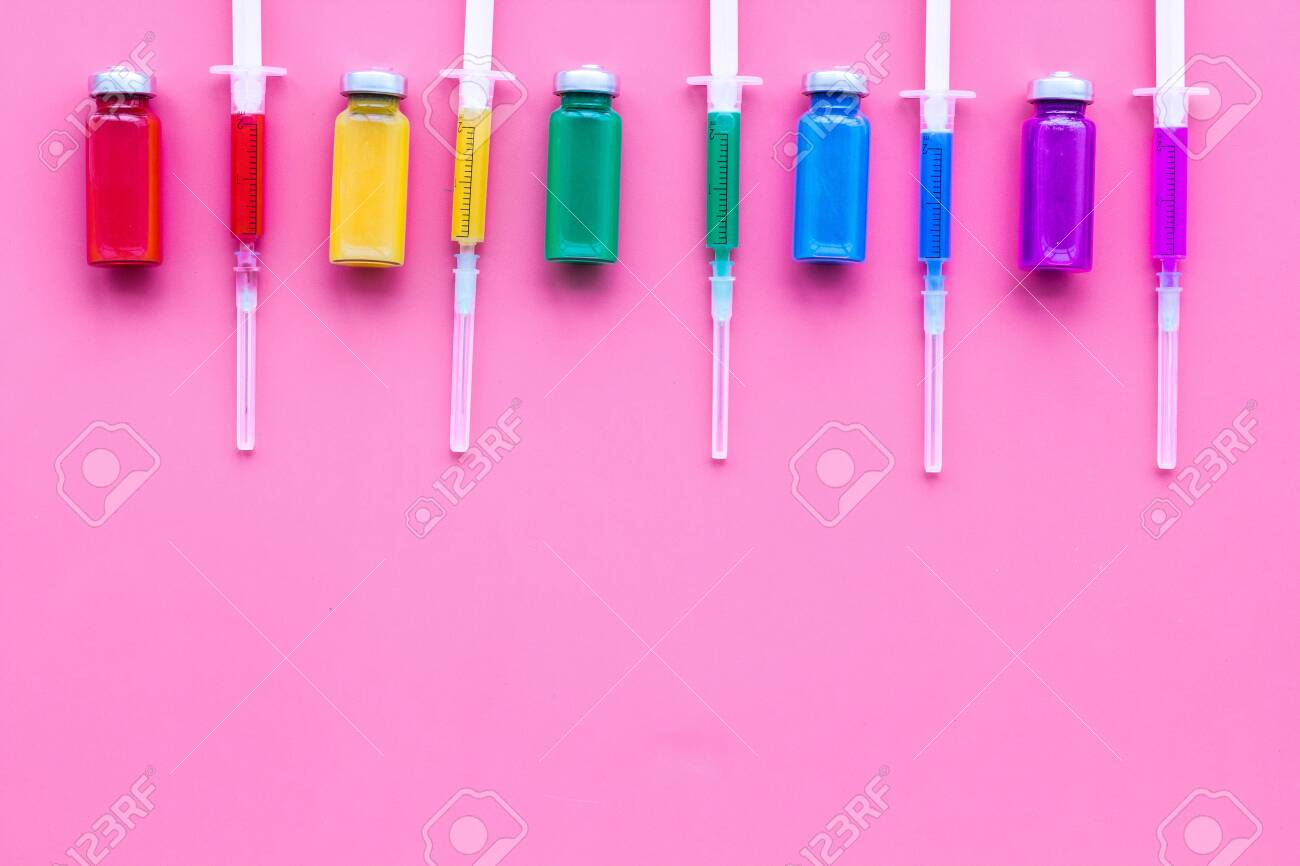 Vaccination Immunization Syringe And Bottle With Medicament 1300x866