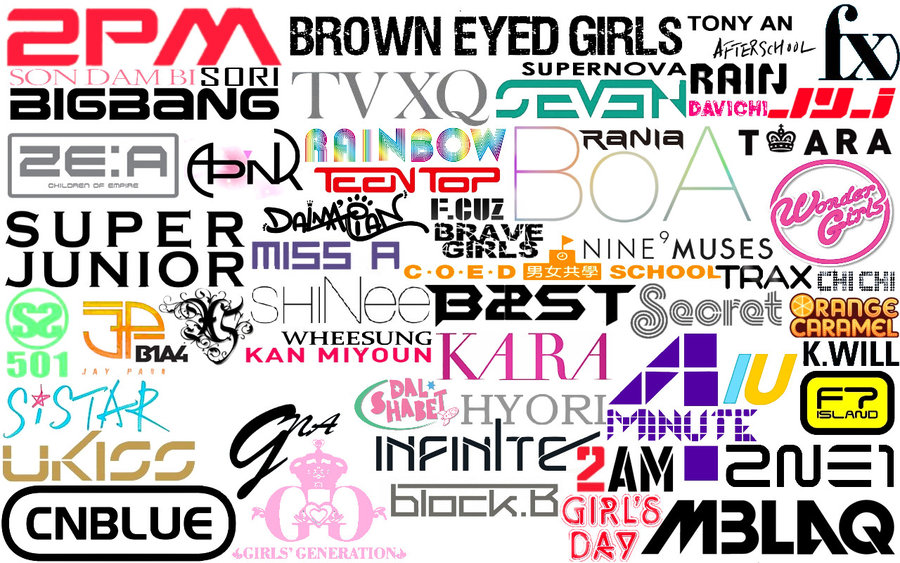 KPOP Logos Wallpaper by tplt95 900x563