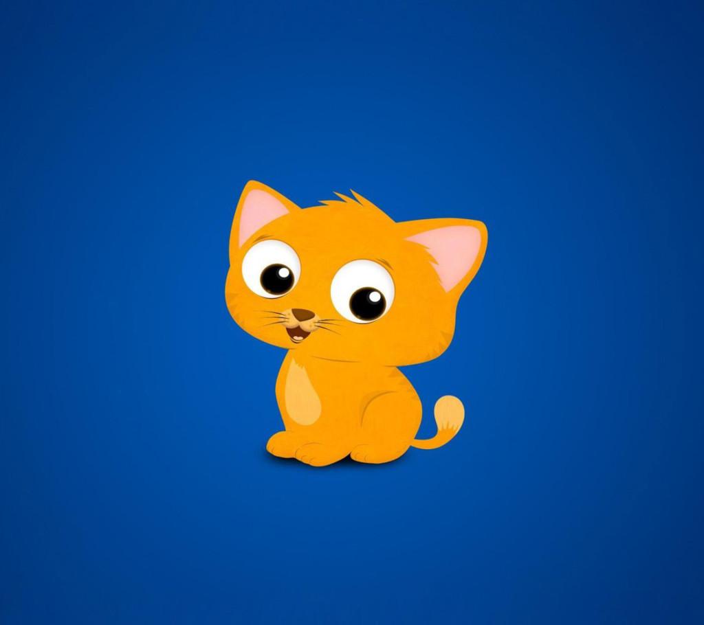 Animated cat wallpaper for desktop wallpapersafari - Cartoon cat background ...