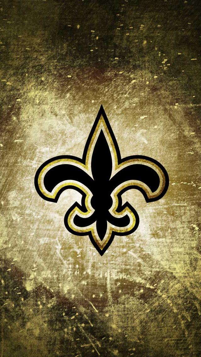 New Orleans Saints Rusty Look IPhone 5 Wallpaper 640x1136 640x1136