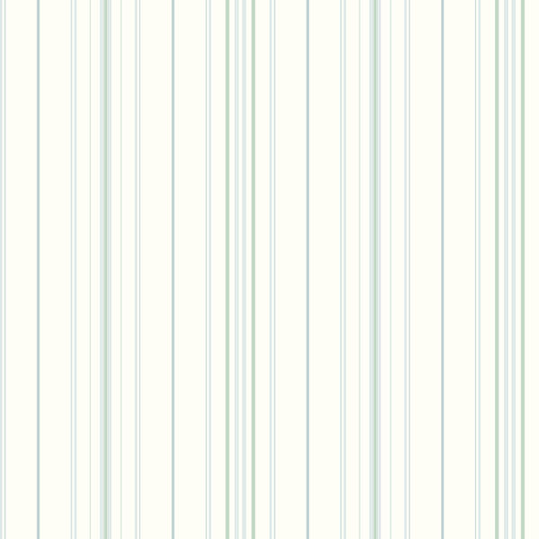 Blue and Green Wide Pinstripe Wallpaper   Wall Sticker Outlet 600x600