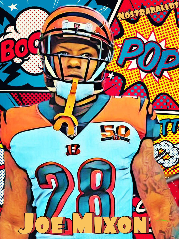 Joe Mixon fantasy art picture Fantasy football Football helmets 1080x1440