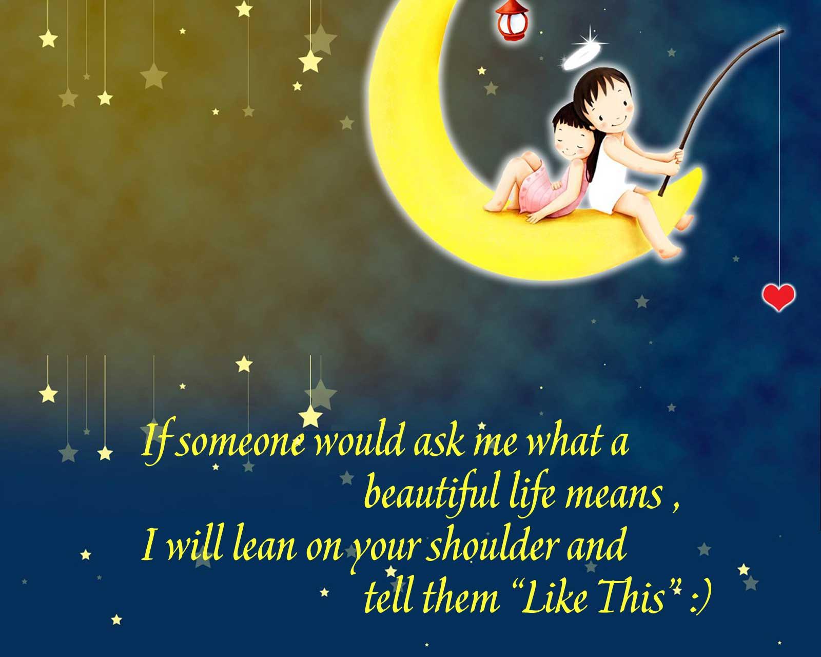 Cute Cartoon Life Quotes Wallpaper Downlo 1706 Wallpaper High 1600x1280