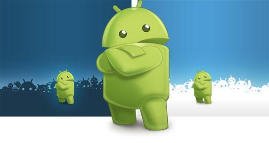 Gambar Robot Android yang Lucu Seputar Dunia Ponsel dan HP 550x293