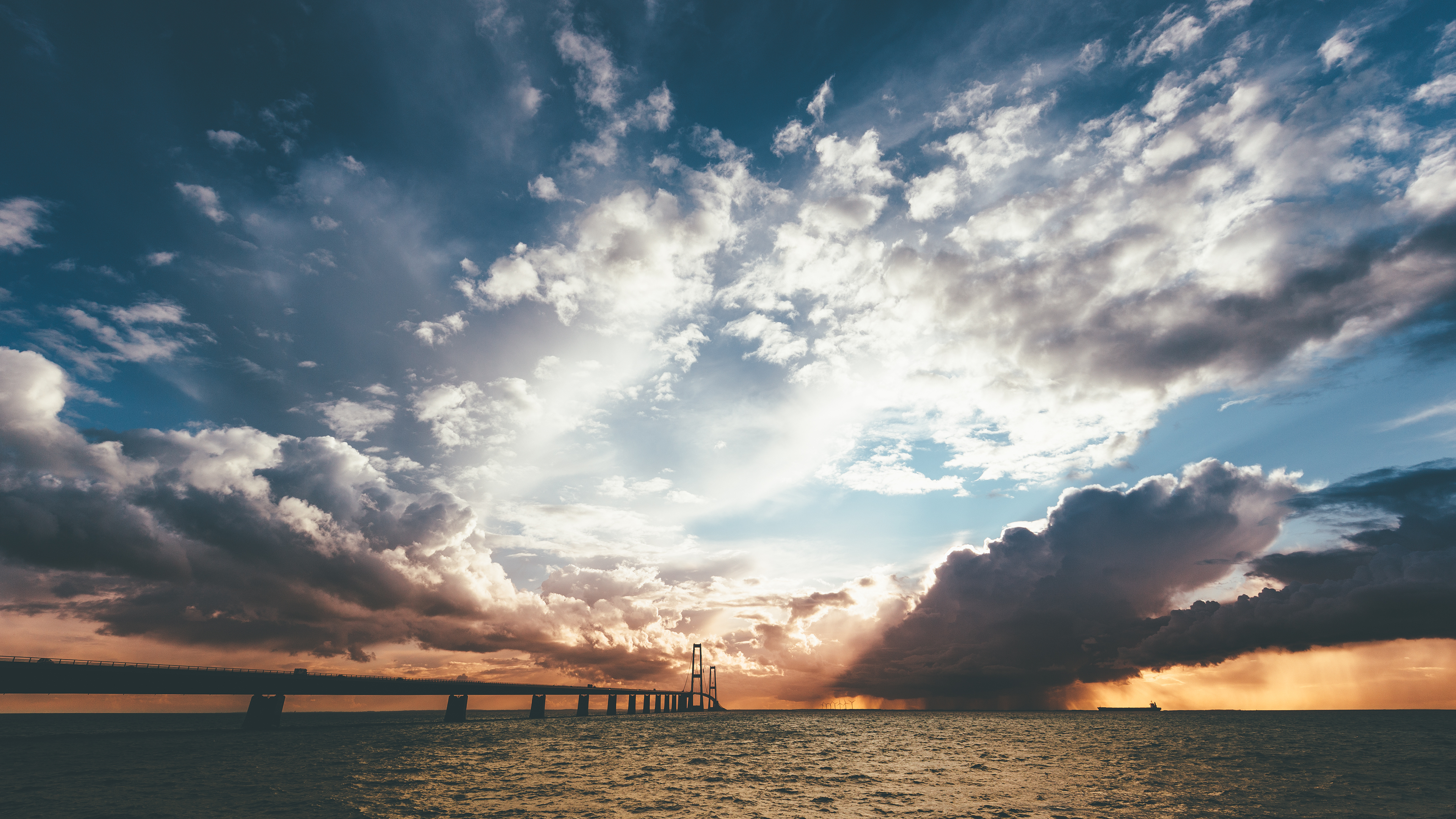 Bridge leading to the clouds wallpaper 39451 3840x2160