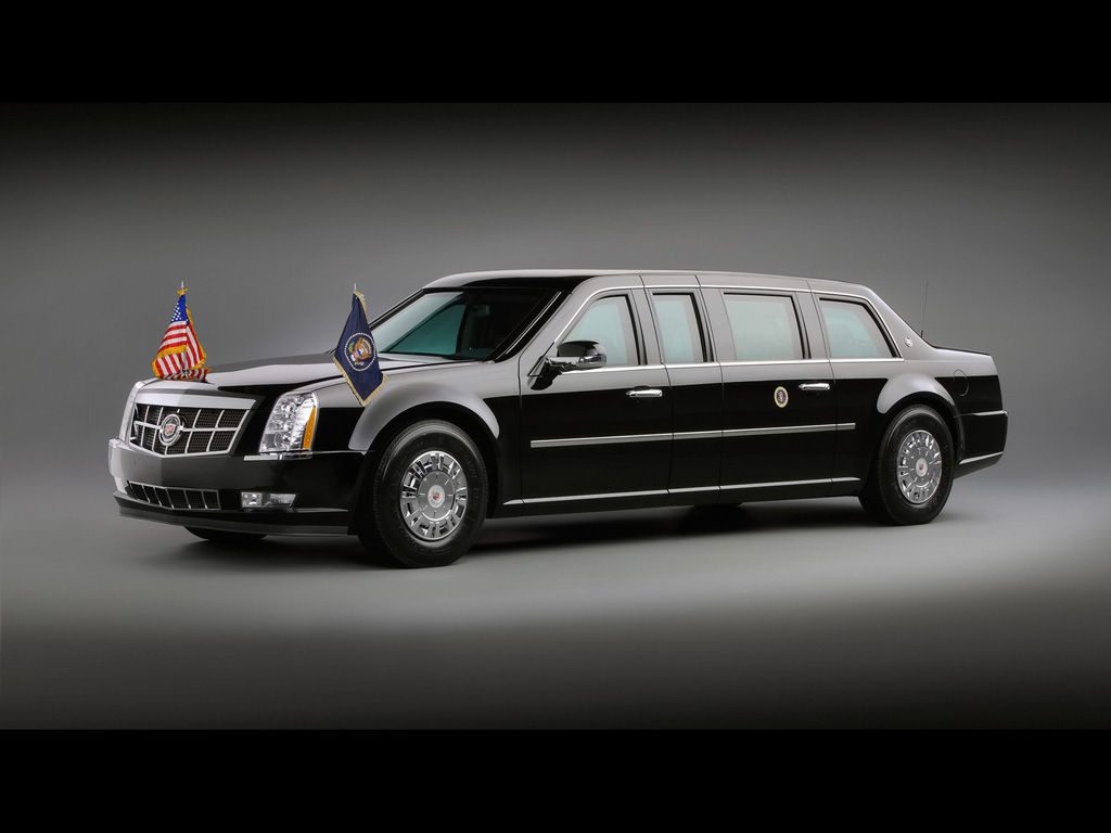 2009 Cadillac Presidential Limousine   Front And Side   1024x768 1024x768