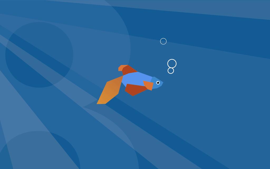 Windows 8 beta demo fish wallpaper 003 blue by mir808 1024x640