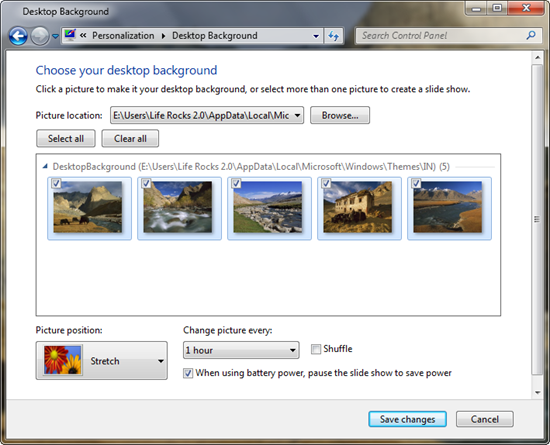 How to Change Desktop Wallpaper Quickly in Windows 7 550x445