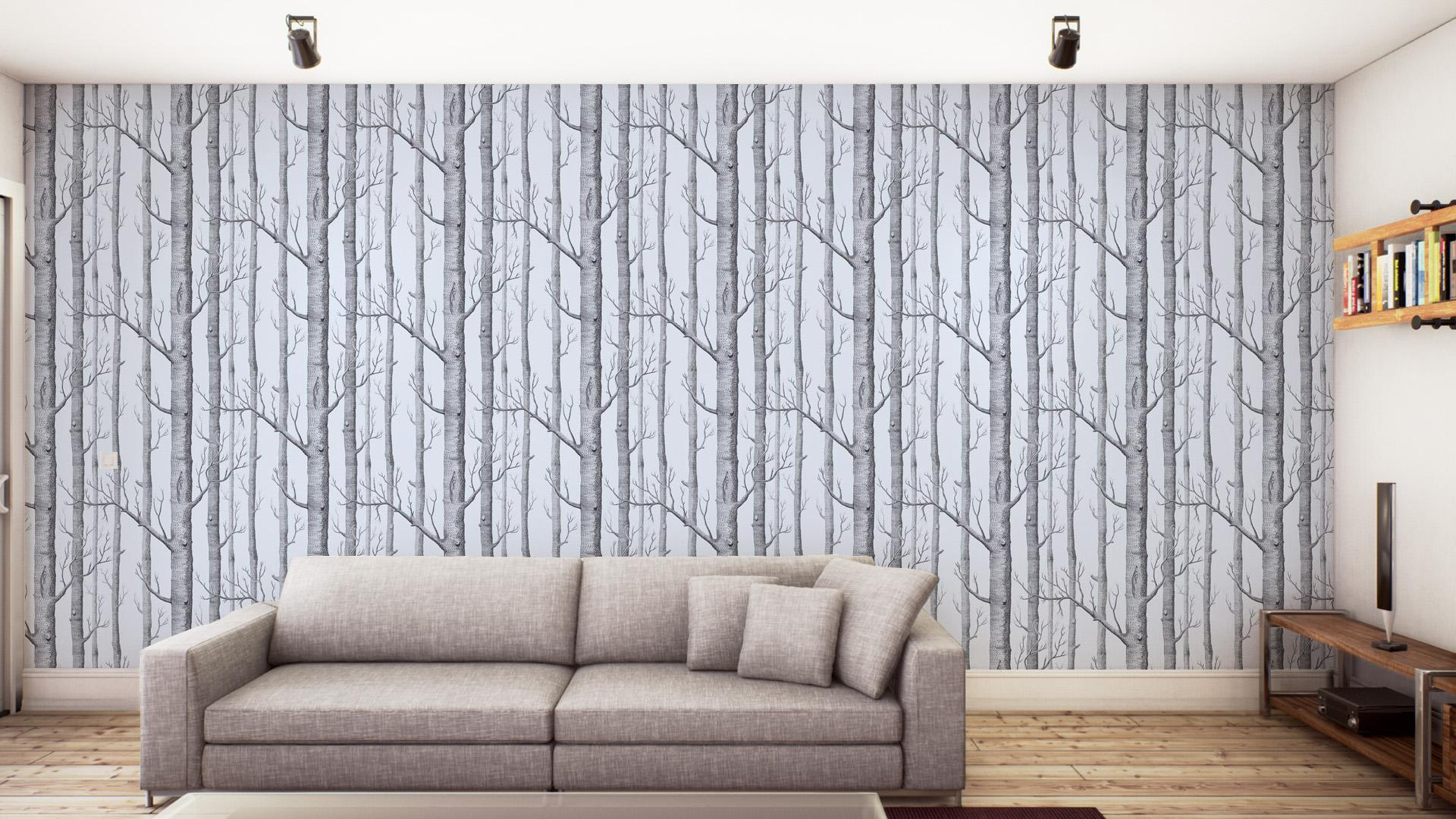 Cole Son Woods 6912150 Wallpaper Dark BrownSilver Foil 1920x1080