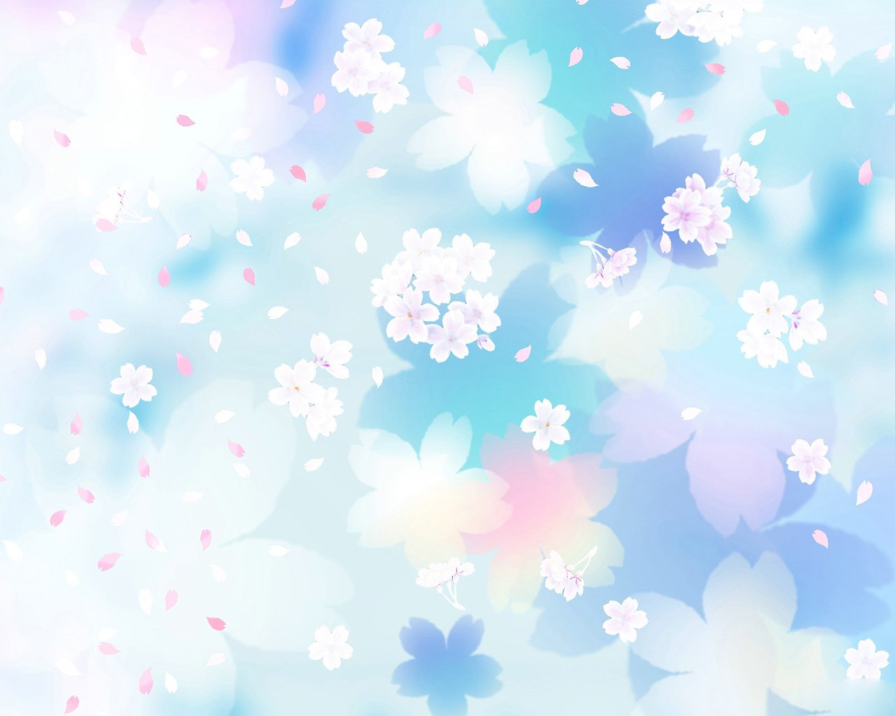 Blue And White Flowers Backgrounds Wallpaper Full HD Wallpapers 1280x1024