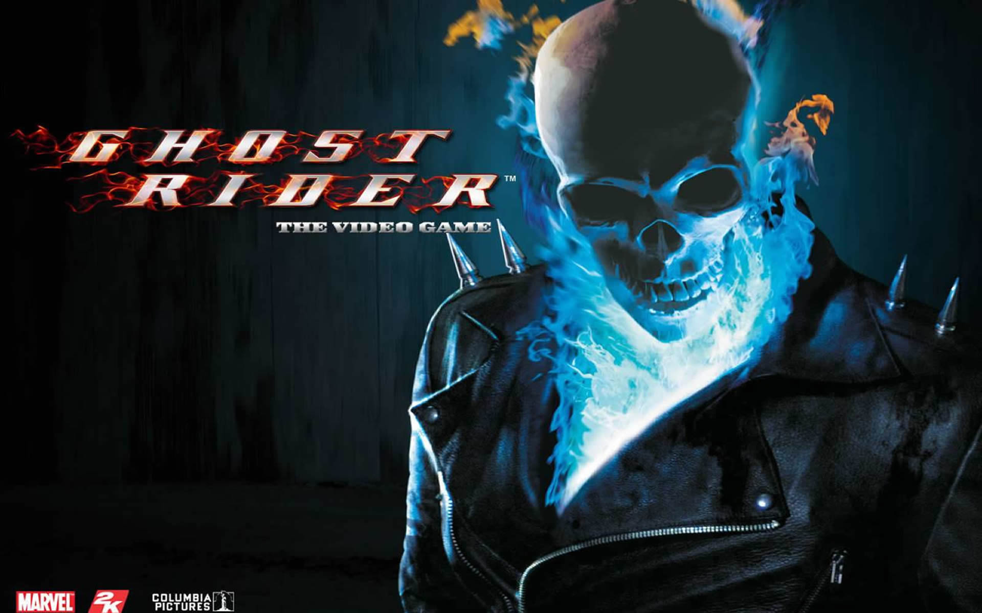 Blue Flame Skull Superhero Games Wallpaper Image Featuring Ghost 1920x1200