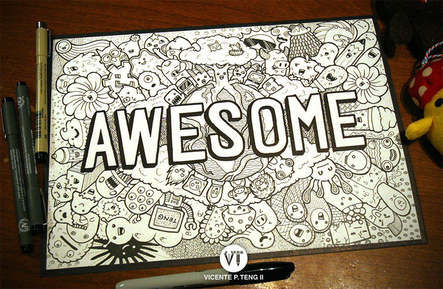 Cute Monster Doodle Wallpaper Doodle awesome monsters by