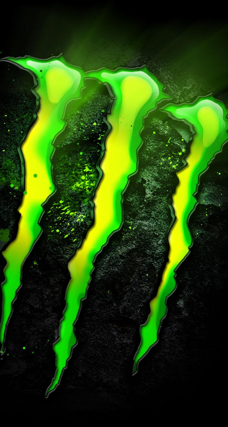 monster energy logo iphone wallpaper tags beverage drinks energy logo 744x1392